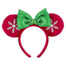 Minnie Mouse Snowflake Ears Headband for Adults