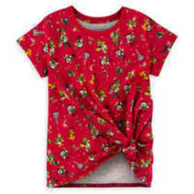 Mickey Mouse and Friends Knotted Holiday T-Shirt f