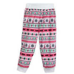 Santa Mickey Mouse Ear Hat Fair Isle Pajama Pants
