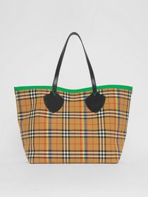 The Giant Tote in Rainbow Vintage Check in Antique