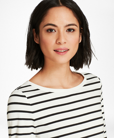 Striped Stretch-Cotton Jersey Long Sleeve T-Shirt