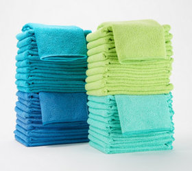 40-Piece Premium Microfiber Towel Set by Campanell