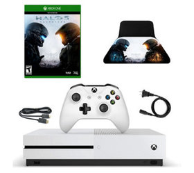 Xbox One S 500GB Console with HALO 5 Game and Cont
