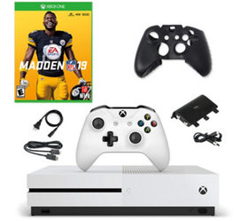 Xbox One S 1TB Console with Madden NFL 19 and Acce