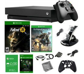 Xbox One X 1TB Console with Fallout 76 and Titanfa
