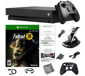 Xbox One X 1TB Console with Fallout 76 Game andAcc