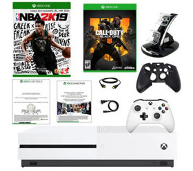 Xbox One S 1TB NBA 2K19 with Call of Duty 4 andAcc