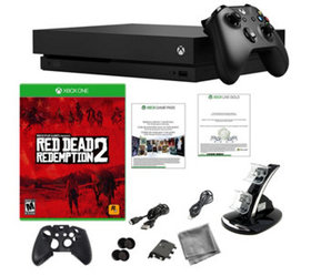 Xbox One X 1TB with Red Dead Redemption 2 and Acce