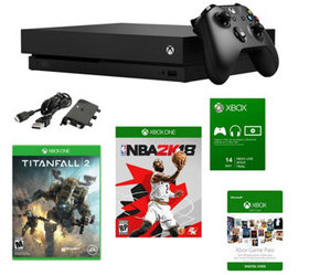 Xbox One X 1TB Console with NBA 2K18, Titanfall2 &