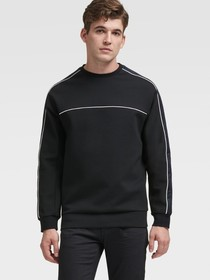 CREWNECK PULLOVER WITH REFLECTIVE STRIPES