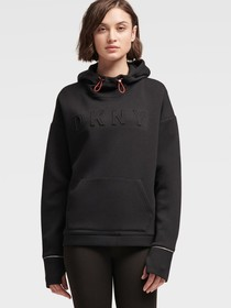 PULLOVER EMBROIDERED LOGO HOODIE WITH CROSSOVER BA