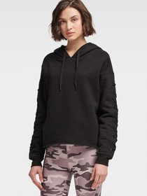 LOGO LACE-UP HOODIE
