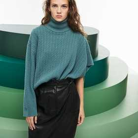 Women's Fashion Show Asymmetrical Sleeves Wool And