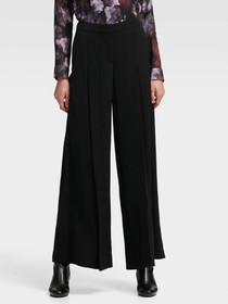 DOTTED PINSTRIPE WIDE-LEG PANT