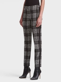 PRINTED SLIM-FIT PANT WITH SIDE ZIP