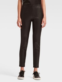 PONTE FAUX LEATHER-FRONT LEGGING