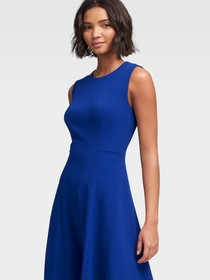 FIT-AND-FLARE HANDKERCHIEF DRESS