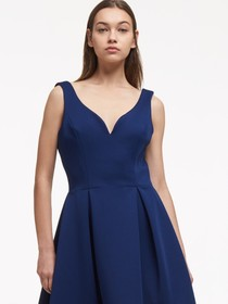 SWEETHEART FIT-AND-FLARE DRESS