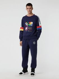Colour Block Embroidered Archive Logo Sweatshirt i
