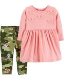 Baby Girl2-Piece Dress & Legging Set