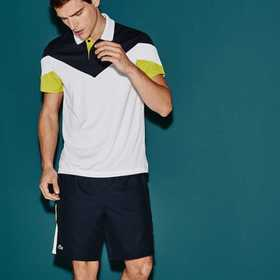 Men's SPORT Tennis Colorblock Tech Piqué Polo
