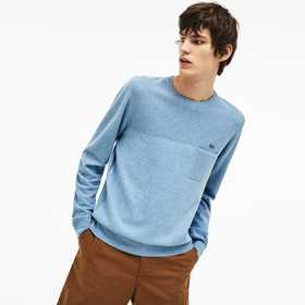 Men's Cotton And Linen Knit Sweater