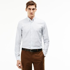 Men's Slim Fit Stretch Cotton Pinpoint Shirt