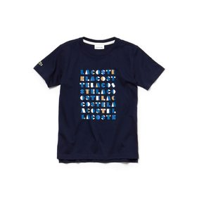 Boys' Crew Neck Graphic Lettering Cotton Jersey T-
