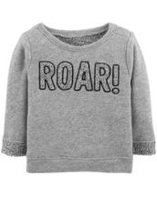 Baby Boy Roar French Terry Pullover