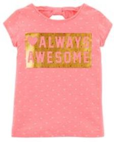 Kid GirlNeon Always Awesome Jersey Tee