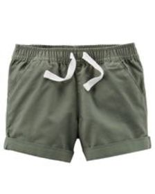 Kid GirlPull-On Twill Shorts