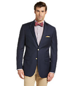 Signature Collection Tailored Fit Solid Blazer - B