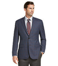 Traveler Collection Tailored Fit Windowpane Plaid