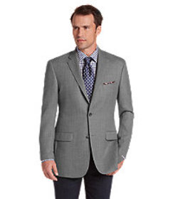 Traveler Collection Tailored Fit Herringbone Sport