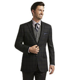 Signature Collection Tailored Fit Windowpane Sport