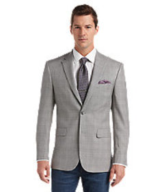 Traveler Collection Traditional Fit Plaid Sportcoa