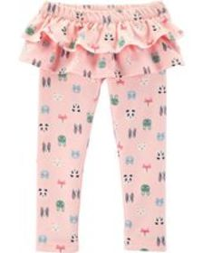 Baby Girl Character Ruffle French Terry Pants