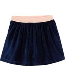Baby Girl Glitter Waist Velour Skirt