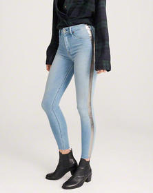 High Rise Ankle Jean Leggings, LIGHT WASH WITH SHI