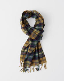 Woven Scarf, BLACK AND GREY CHECK