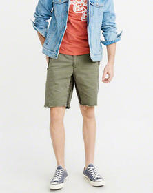 Destroyed Shorts, OLIVE GREEN WITH CAMO