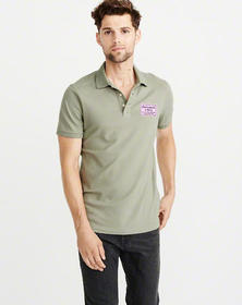 Embroidered Logo Tag Polo, OLIVE GREEN