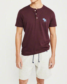 Exploded Icon Henley, BURGUNDY
