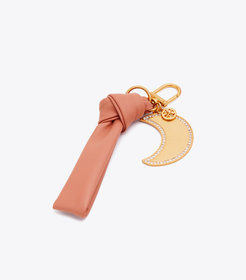 LEATHER BOW KEY RING