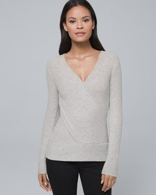 Twisted Surplice Knit Top