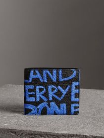 Graffiti Print Leather International Bifold Wallet