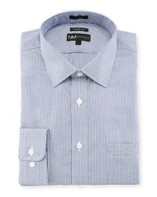 Neiman Marcus Trim Fit Striped Dobby Dress Shirt