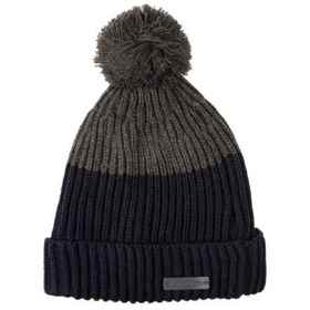 Rainforest Jersey-Lined Roll Cuff Beanie in Grey/N