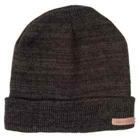 Rainforest Jersey-Lined Marled Beanie in Black - C
