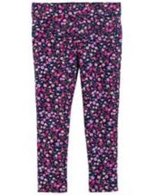 Baby Girl French Terry Floral Jeggings